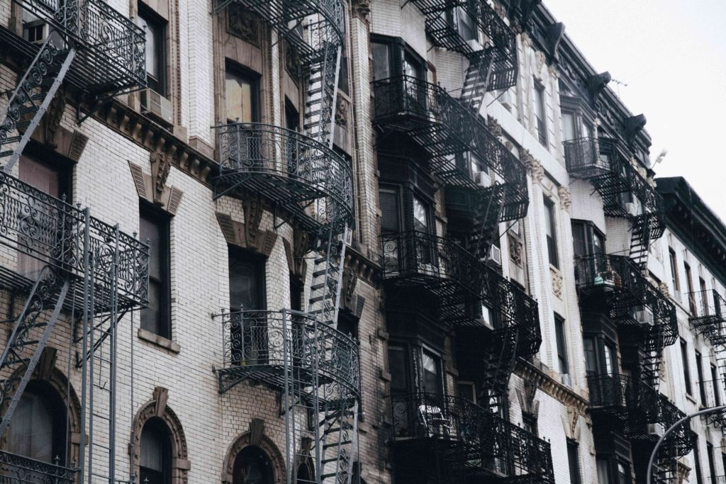 new york city buildings are just so pretty with all the outside stairs