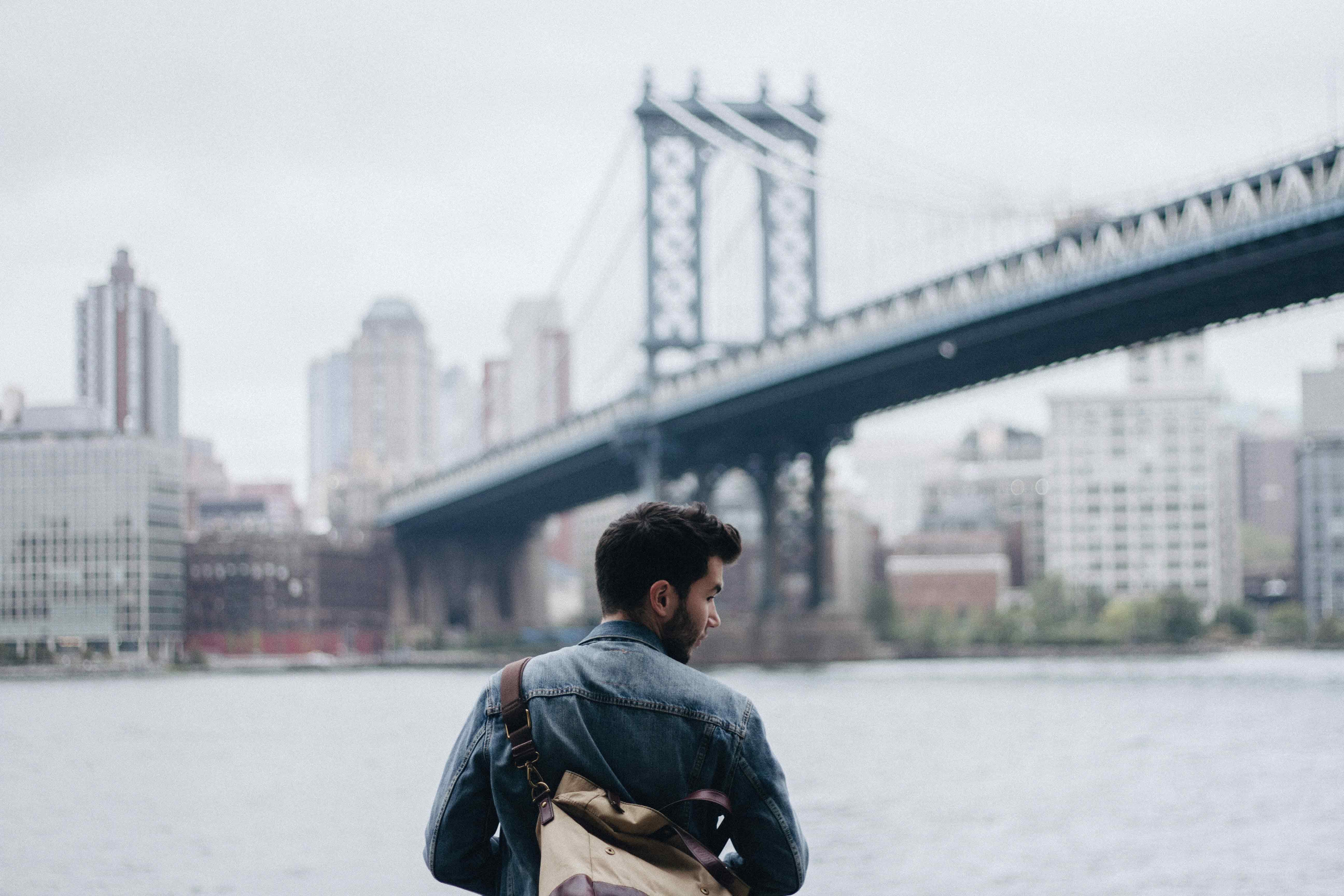 friends of mine under the Manhattan bridge new york city