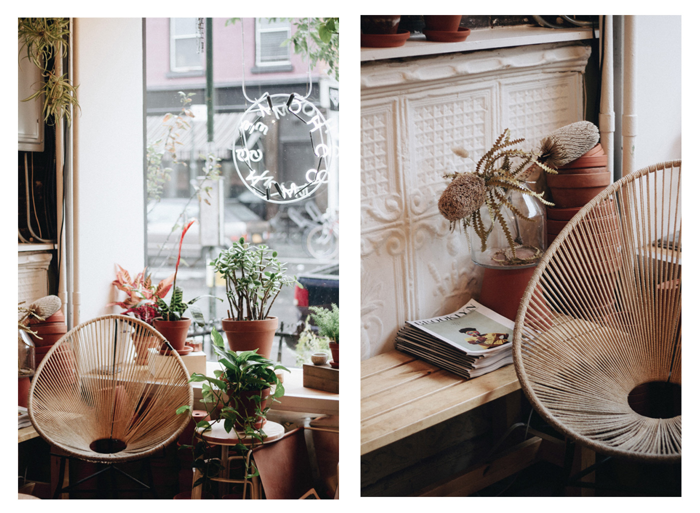 Small boutique in brooklyn new york city called home coming coffee and ceramics