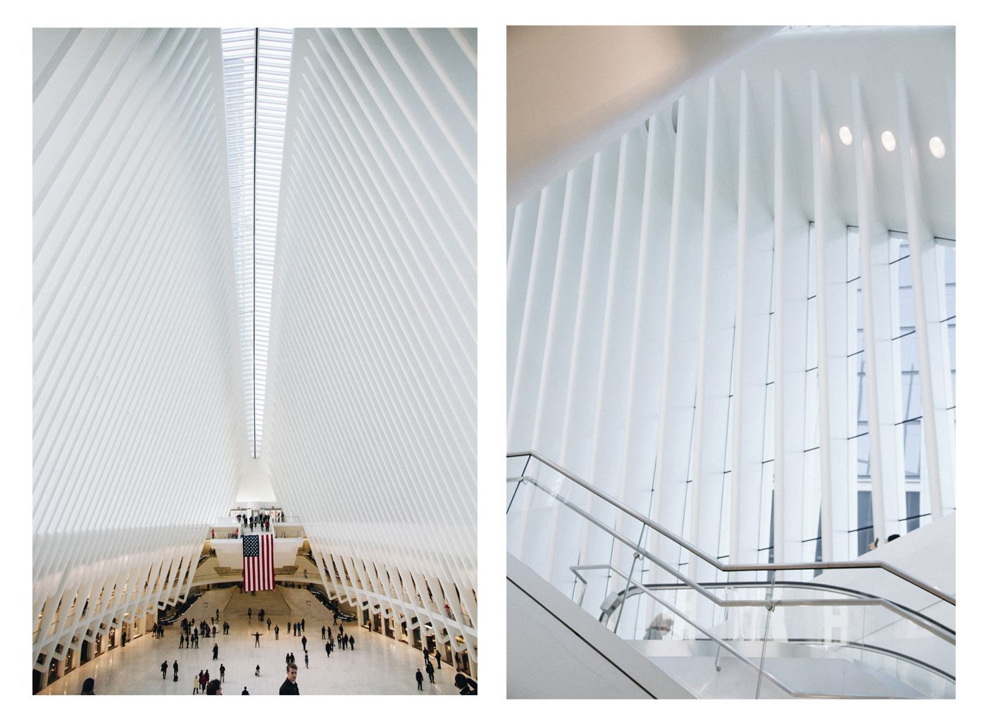 architectural pictures from the oculus in new york city