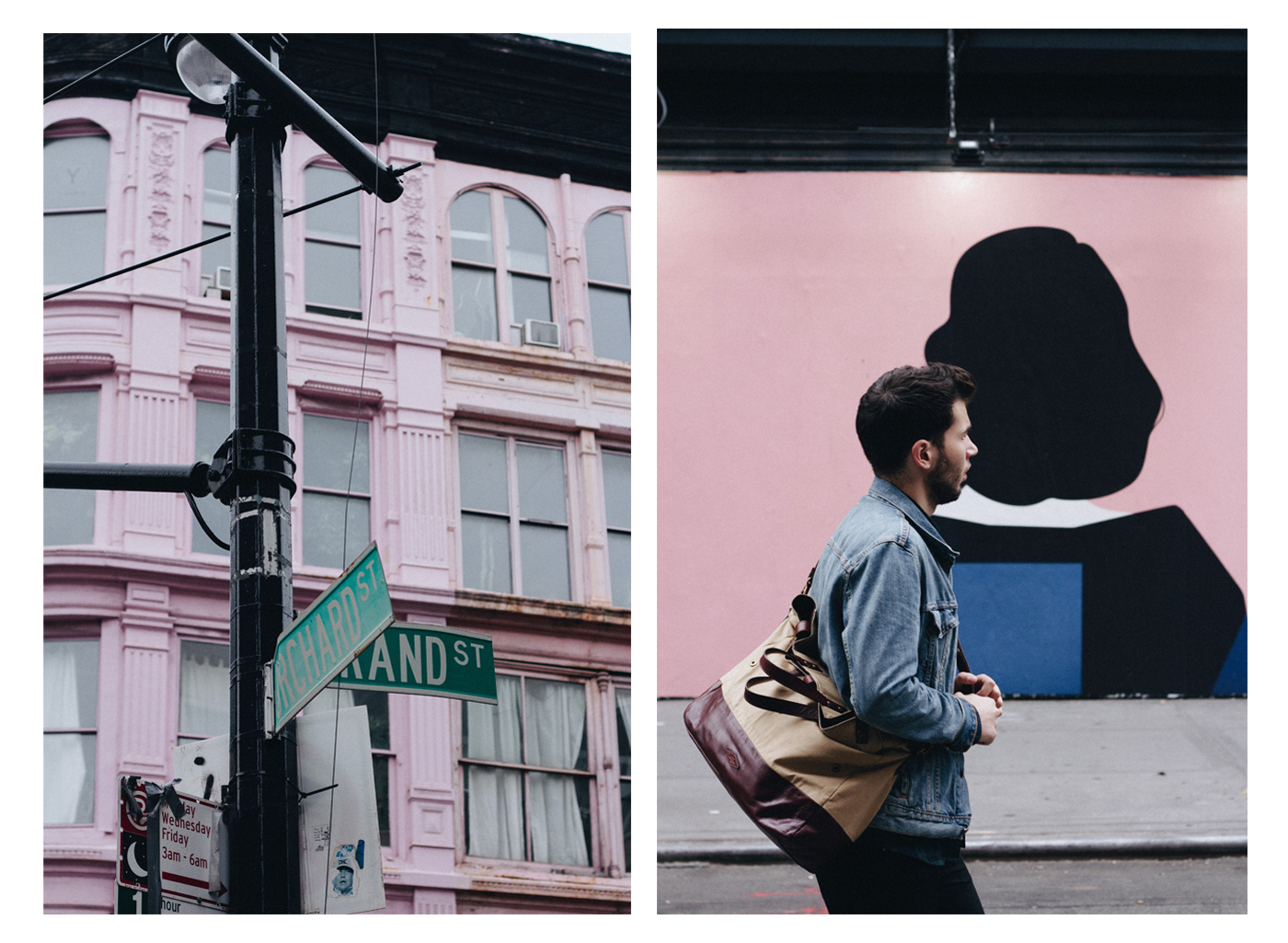 Wandering new york city with some friends and pink buildings