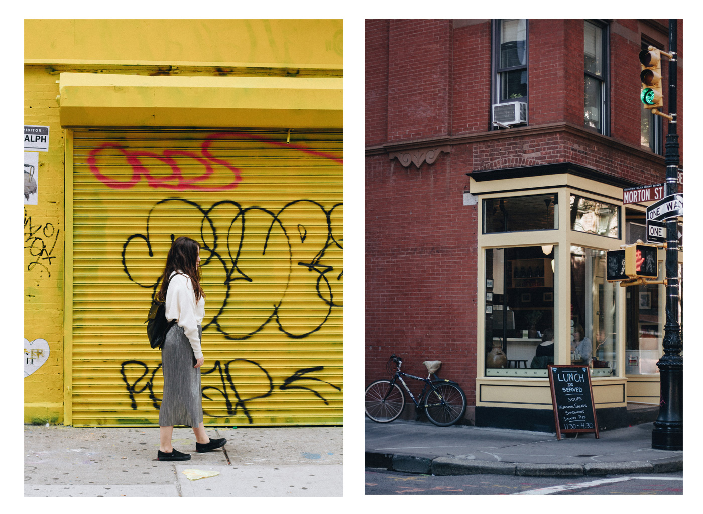 Street shot from new york city corner street