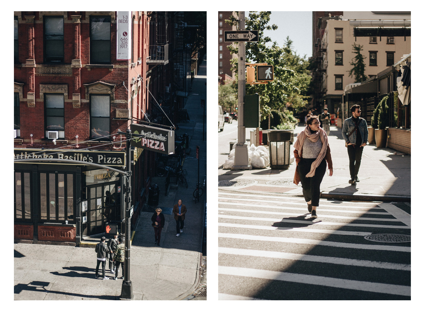 Two of my best friends walking in the street of new york city